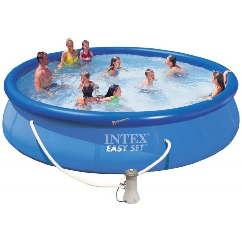 Семейный надувной бассейн с фильтр-насосом Intex 28132 Easy Set 366x76 см