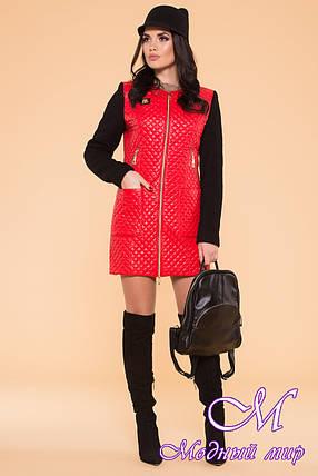 Пальто стьобана жіноче Україна арт. Матео 5602, фото 2