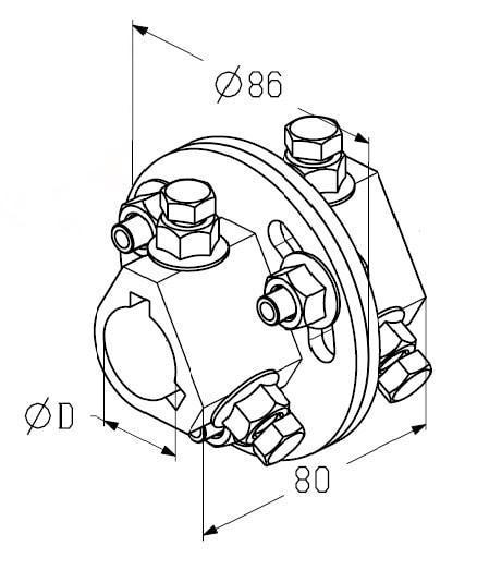 Муфта соединительная AC -5/4 дюйма (31.75 мм)