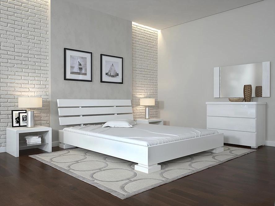 Деревянная кровать из массива дерева- Премьер 1,2*2