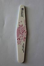 Пилка для ногтей Salon Professional 180/240 ЦВЕТЫ, ромб