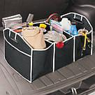 Сумка органайзер для багажного отделения в автомобиль (черная), фото 3