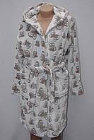 Махровый женский халат на запах S, M, L,XL бабочка