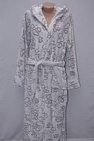 Махровый женский халат на запах S, M, L,XL бигль