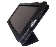 Черный чехол для Toshiba Thrive AT100 из натуральной кожи.