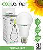 LED лампа 10 Вт, E27 теплый свет