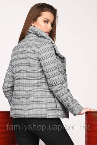 Стильная женская осенняя куртка в клетку Grand Trend, фото 2