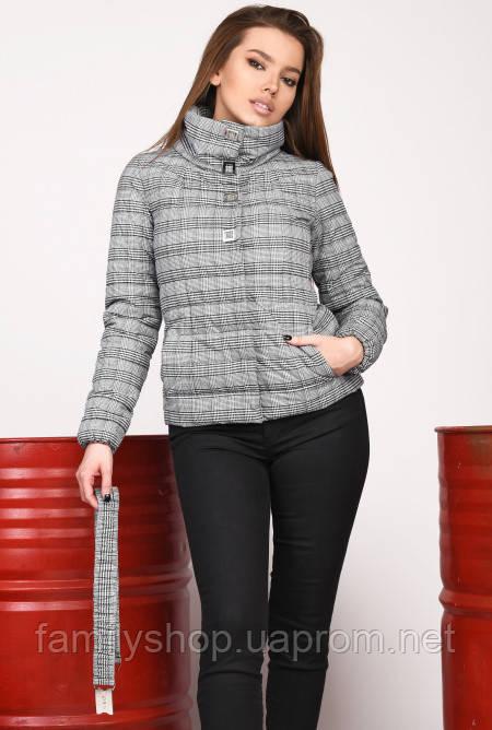 Стильная женская осенняя куртка в клетку Grand Trend