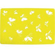 Подставка на стол, Бабочки, 30х45 см, фетр, желтый