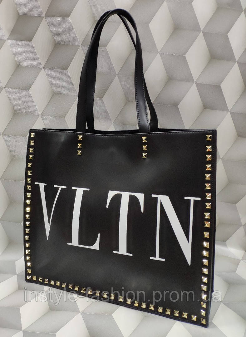 Вместительная женская сумка копия Валентино Valentino качественная эко-кожа дорогой Китай