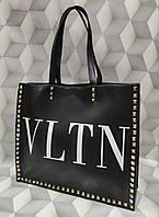 Вместительная женская сумка копия Валентино Valentino качественная эко-кожа дорогой Китай, фото 1
