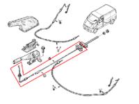Передний + центральный трос ручного тормоза