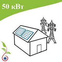 Сетевая солнечная электростанция 50 кВт, Зеленый тариф. Батареи Risen, сетевой инвертор ZCS AZZURRO