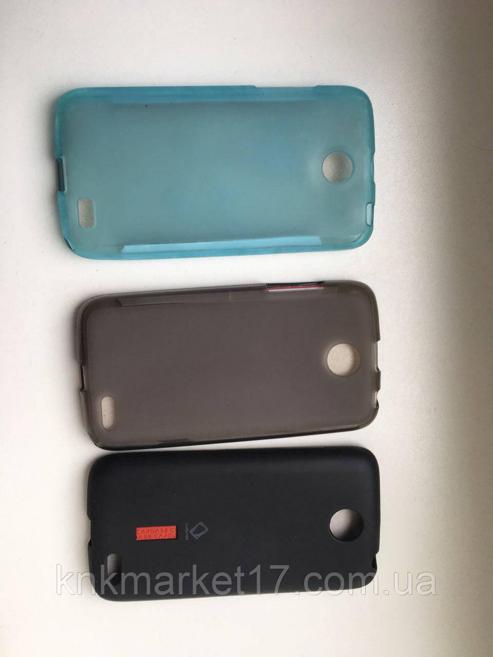 Накладка для Lenovo A516 Силікон Чорна\Сіра\Біла\Блакитна