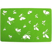 Подставка на стол, Бабочки, 30х45 см, фетр, зеленый