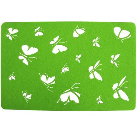 Подставка на стол, Бабочки, 30х45 см, фетр, зеленый, фото 2