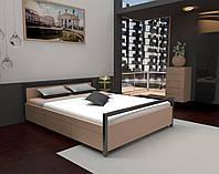 Ліжко з натурального дерева у стилі лофт