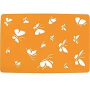 Подставка на стол, Бабочки, 30х45 см, фетр, оранжевый