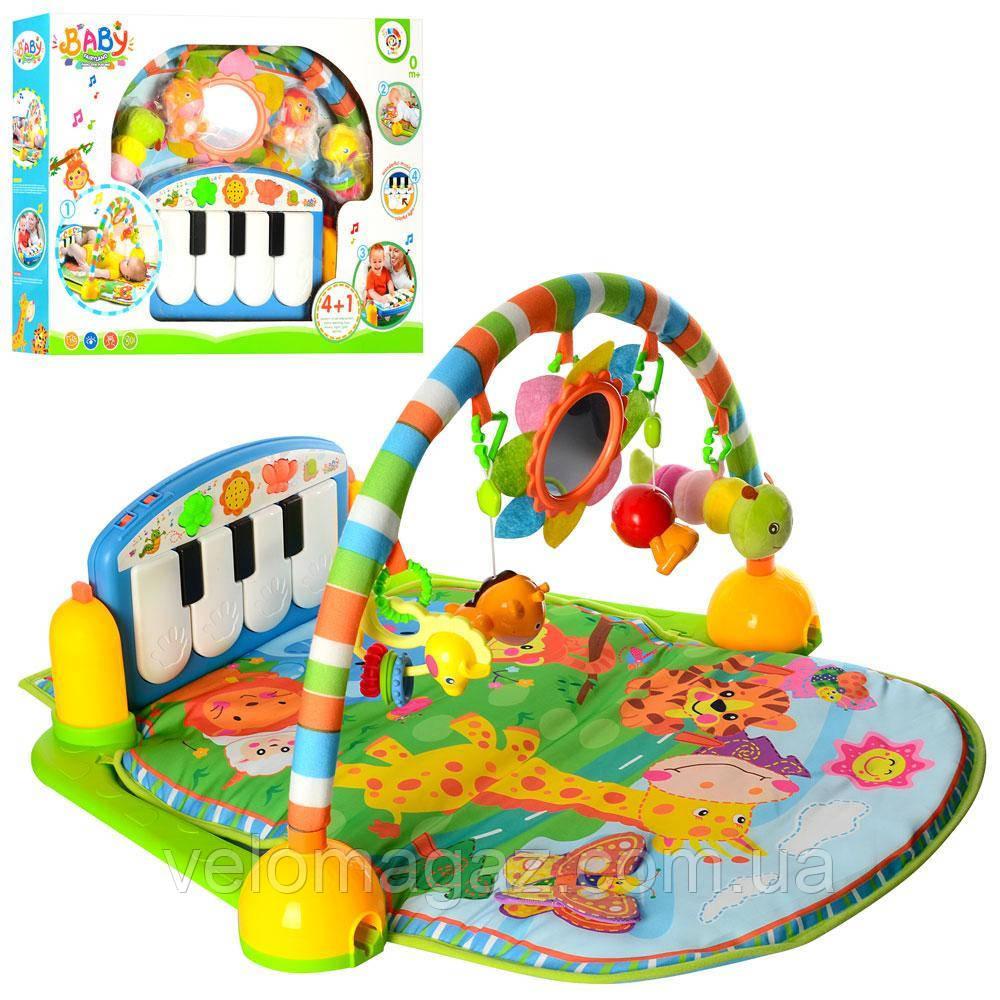 Развивающий коврик для младенца 900*600 мм с пианино PA318-1