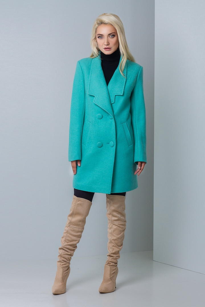 Молодежное пальто для девушки Женева мята - DS Moda - женская одежда оптом  от производителя в 4ec144bcd0b50