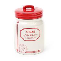 """Банка керамическая для сыпучих продуктов """"Sugar"""", 900мл, DM107-S /П2"""