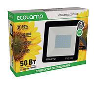 Светодиодный LED прожектор ECOLAMP 50W-4500lm-6500K-IP65