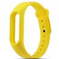 Силиконовый Ремешок для Xiaomi Mi Band 2 Желтый