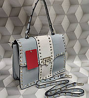 22d6b150938b Женская сумка-клатч копия Валентино Valentino качественная эко-кожа цвет  голубой