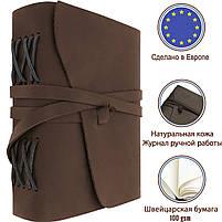 Блокнот шкіряний COMFY STRAP  В6 (17,5х13,5х3,5 см) коричневий, фото 2