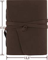 Блокнот шкіряний COMFY STRAP  В6 (17,5х13,5х3,5 см) коричневий, фото 4