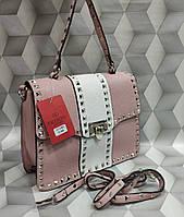 cc26b7b0dc19 Женская сумка-клатч копия Валентино Valentino качественная эко-кожа цвет  розовый