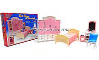 Детская игрушечная мебель Глория Gloria для кукол Барби Гардероб и спальня 24014. Обустройте кукольный домик, фото 1