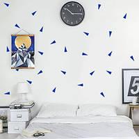 Треугольники 02, набор виниловых небольших наклеек (фигуры, стикеры в детскую, декоративные наклейки