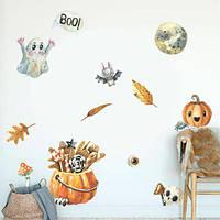 Виниловые наклейки Хэллоуин тематические праздничные набор наклеек Хелоуин Хеллоуин матовая , фото 1