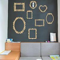 Рамки 2, Набор виниловых декоративных наклеек (для фотографий и картин, фоторамки самоклеющиеся)