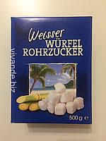 Сахар тростниковый белый Weisser wurfel rohrzucker кусковой твёрдый 500 г