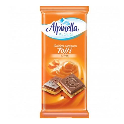 Шоколад Alpinella Toffi карамель 100 г/22 шт в уп