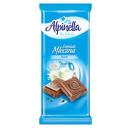 Шоколад Alpinella Mleczna молочный 90 г/25 шт в уп