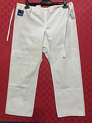 Брюки кимоно (дзюдо, джиу-джитсу) Stels белые р.50, рост 180см, вес 80-85кг, х/б, пл.320г/м2, армир.