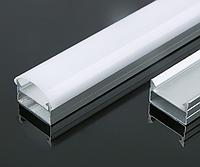 Профиль анодированный накладной для светодиодной ленты,линейки. ХН-065. Комплект 1 метр