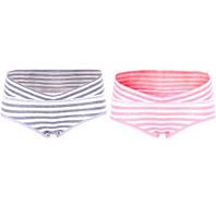 0288 Трусы для беременных комплект большая полоска серая и розовая