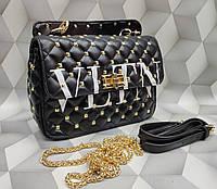 5c573959076d Женская сумка-клатч копия Валентино Valentino качественная эко-кожа дорогой  Китай черная
