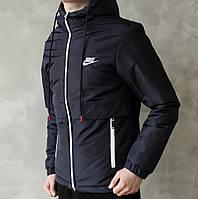 Куртка мужская весенняя, Nike черного цвета  на синтепоне до - 3