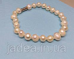 Браслет з натурального річкових перлів