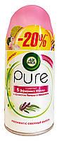 Освежитель воздуха Air Wick Pure 5 эфирных масел с ароматом Пачули и Эвкалипта (сменный баллон) - 250 мл.- 20%