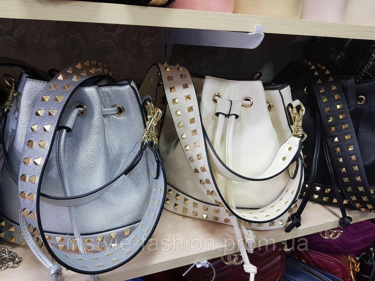 6f96316574a3 ... Женская сумка мешок копия Валентино Valentino качественная эко-кожа  цвет черный, фото 4