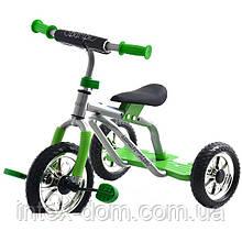 Трехколесный велосипед Profi Trike M 0688-3G Серо-зеленый