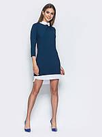 📐Платье полуприталенного кроя с имитацией рубашки (синее, миди) / Размер 42,44,46,48 /  P12A7B1 - 10058/1