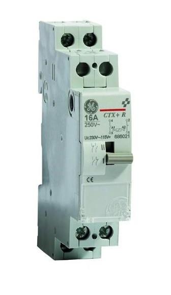 Реле импульсное General Electric PLS 16 10 230 16A, 230 В АС, 666212