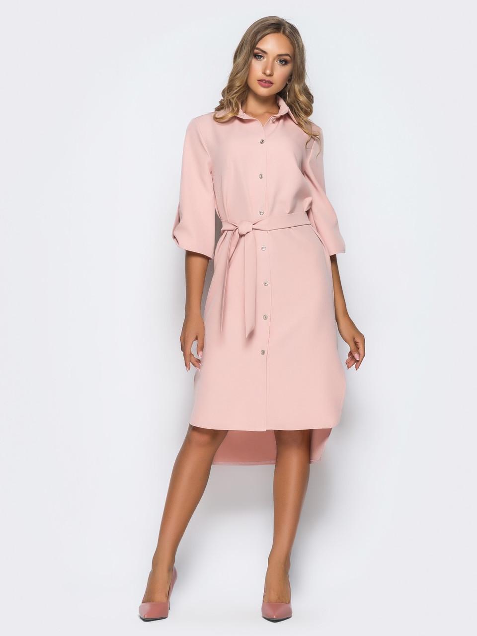 d55bd5b0d92 💎Розовое платье-рубашка   Размер 44